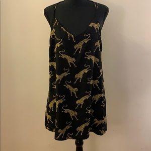 Silk Mini Dress With Jaguar Print